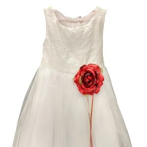 Dresses flower girl dress with bright red rose petals poshmark dresses flower girl dress with bright red rose petals mightylinksfo